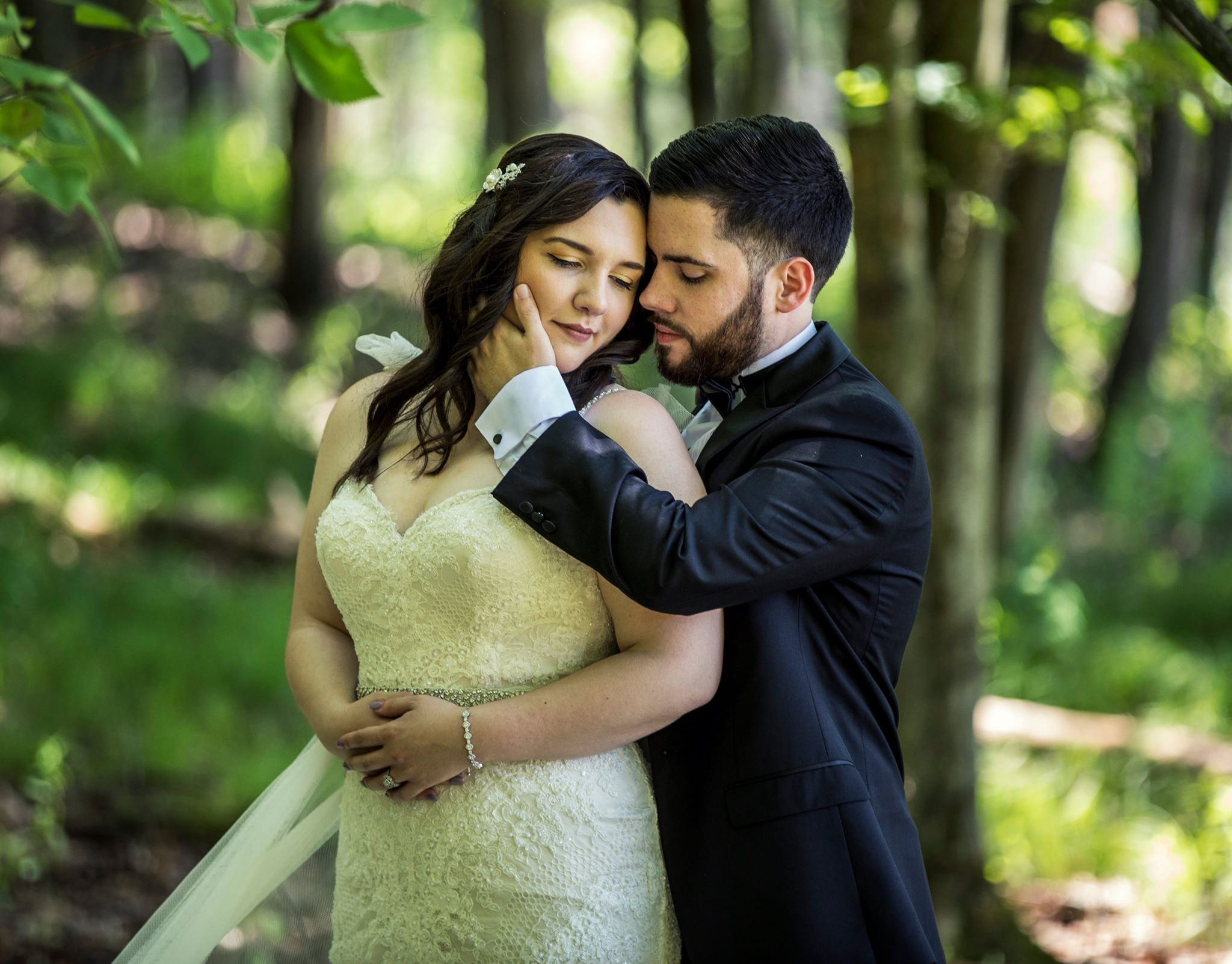 Romantic Pose of a couple at their wedding